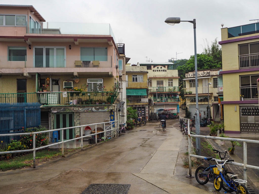 Apartment blocks on Peng Chau island, Hong Kong