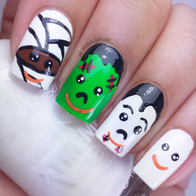 Bestie Twin Nails - Halloween Edition