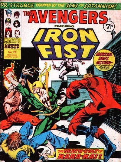 Marvel UK Avengers #70, Iron Fist