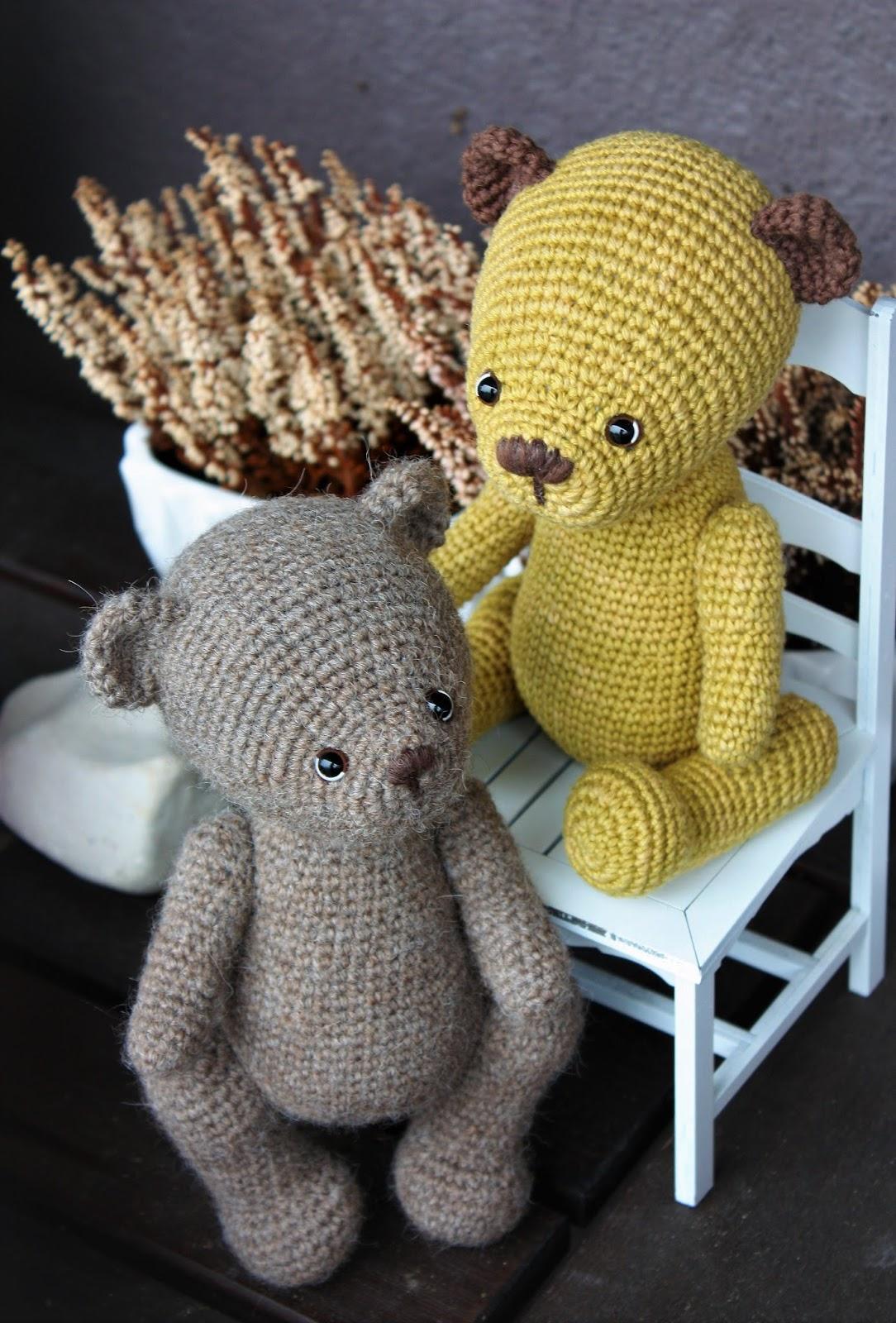 Classic Teddy Bear Crochet Pattern, Amigurumi Bear, Darling Jadore | 1600x1084