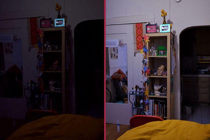 Google Pixel gambar tajam di area redup