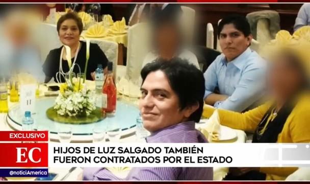 Fuerza Popular: Hijos de congresista Luz Salgado fueron contratados por el estado