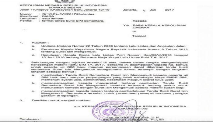 Beredar Surat Polri Soal Kartu Sim Yang Kosong Stoknya Benarkah Hariankota Com