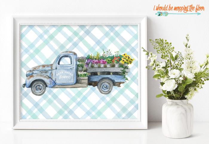 Flower Truck Printable