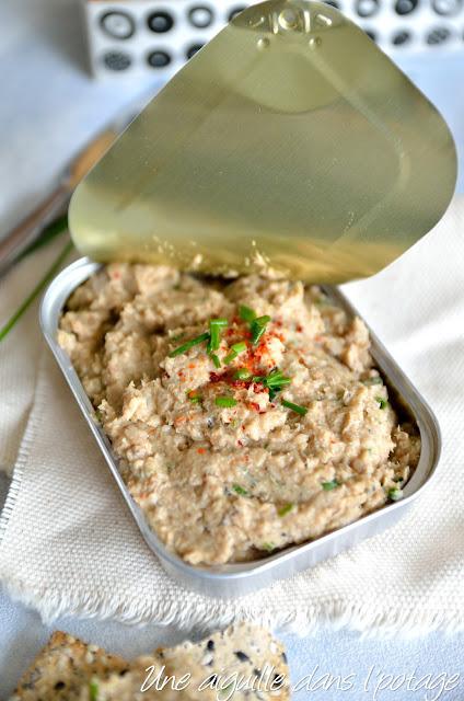 Rillettes de sardines aux haricots blancs (sans lactose)