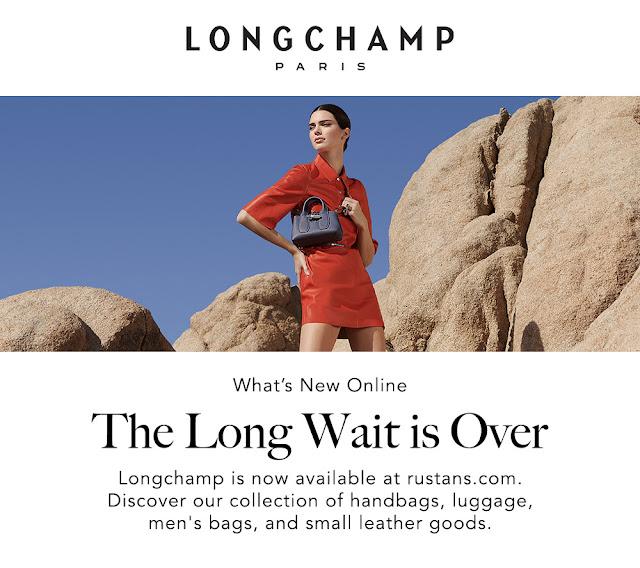 Shop Longchamp at rustans.com