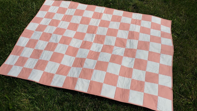 Patchwork quilt from Angelina and the Rag Doll book