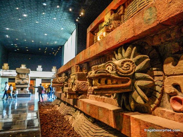 Sala dedicada à Cultura de Teotihuacán no Museu Nacional de Antropologia do México