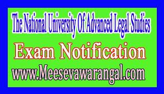 The National University Of Advanced Legal Studies LLM Degree Postponement Nov 2016 Exam Notification