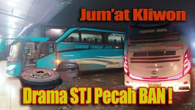 Coretanku - Drama STJ Pecah BAN ! Bus Malam Pekalongan - Tangerang