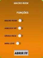 APK Macro Ruok Aimlock Vip Antilag Sensibilidade Free Fire