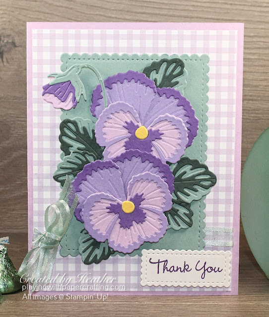 thank you card with pansy dies 2