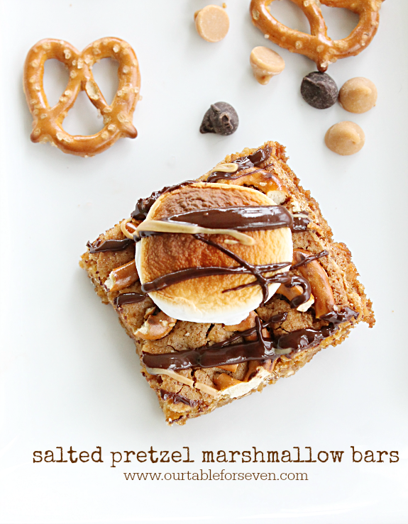 Salted Pretzel Marshmallow Bars
