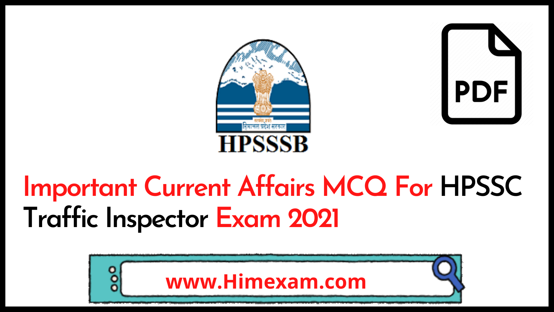 Important Current Affairs MCQ For HPSSC Traffic Inspector Exam 2021