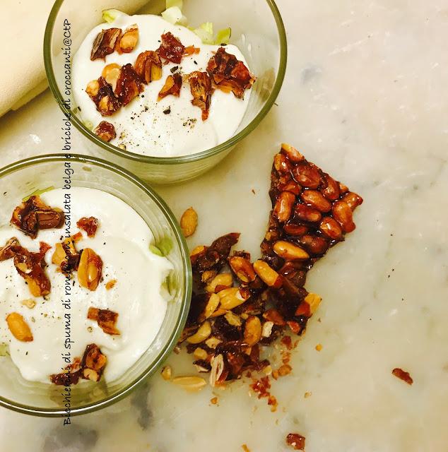 Bicchierini di spuma di rombo con insalata belga e briciole di croccanti alessandra ruggeri