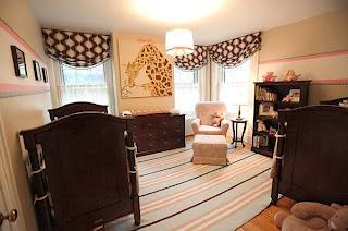 dormitorio en rosa y marrón