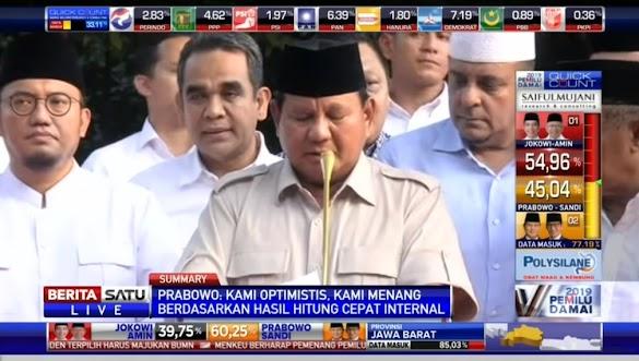 Prabowo Klaim Menang, Lembaga Survei Dinilai Giring Opini