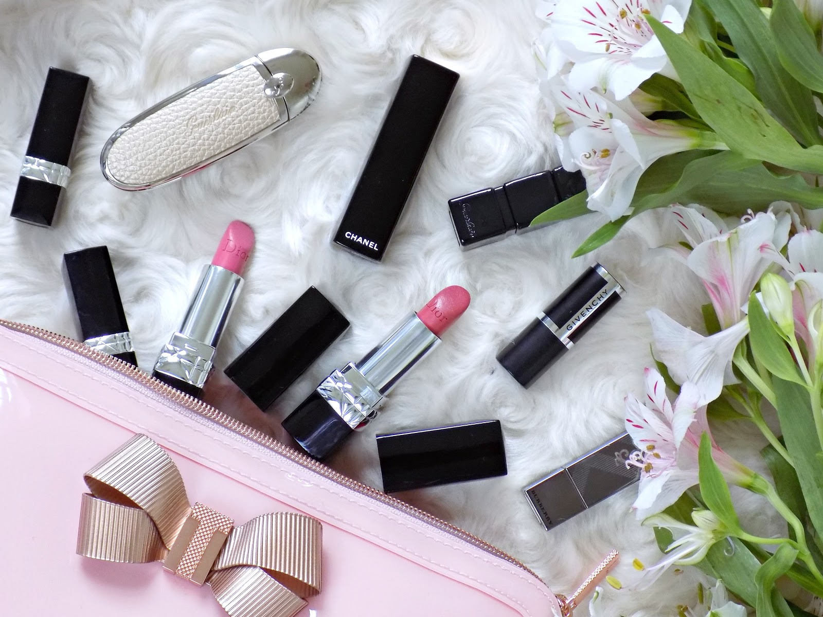 premium designer lipsticks, dior, chanel, guerlain