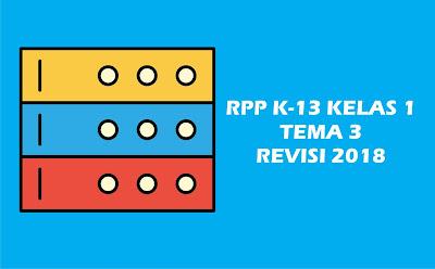 Download Gratis RPP Kelas I Tema 3 K 13 Revisi 2018