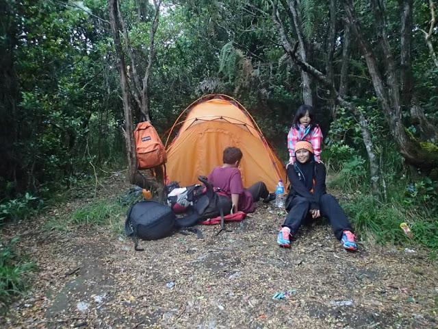 mendaki gunung gede bersama anak, camping di gunung gede