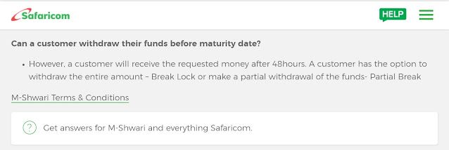 Break M-shwari Lock Savings account