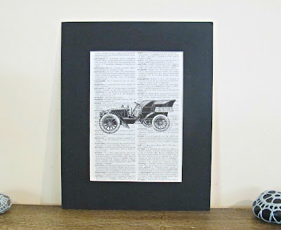 dictionary page art print vintage motorcar ford wall art domum vindemia