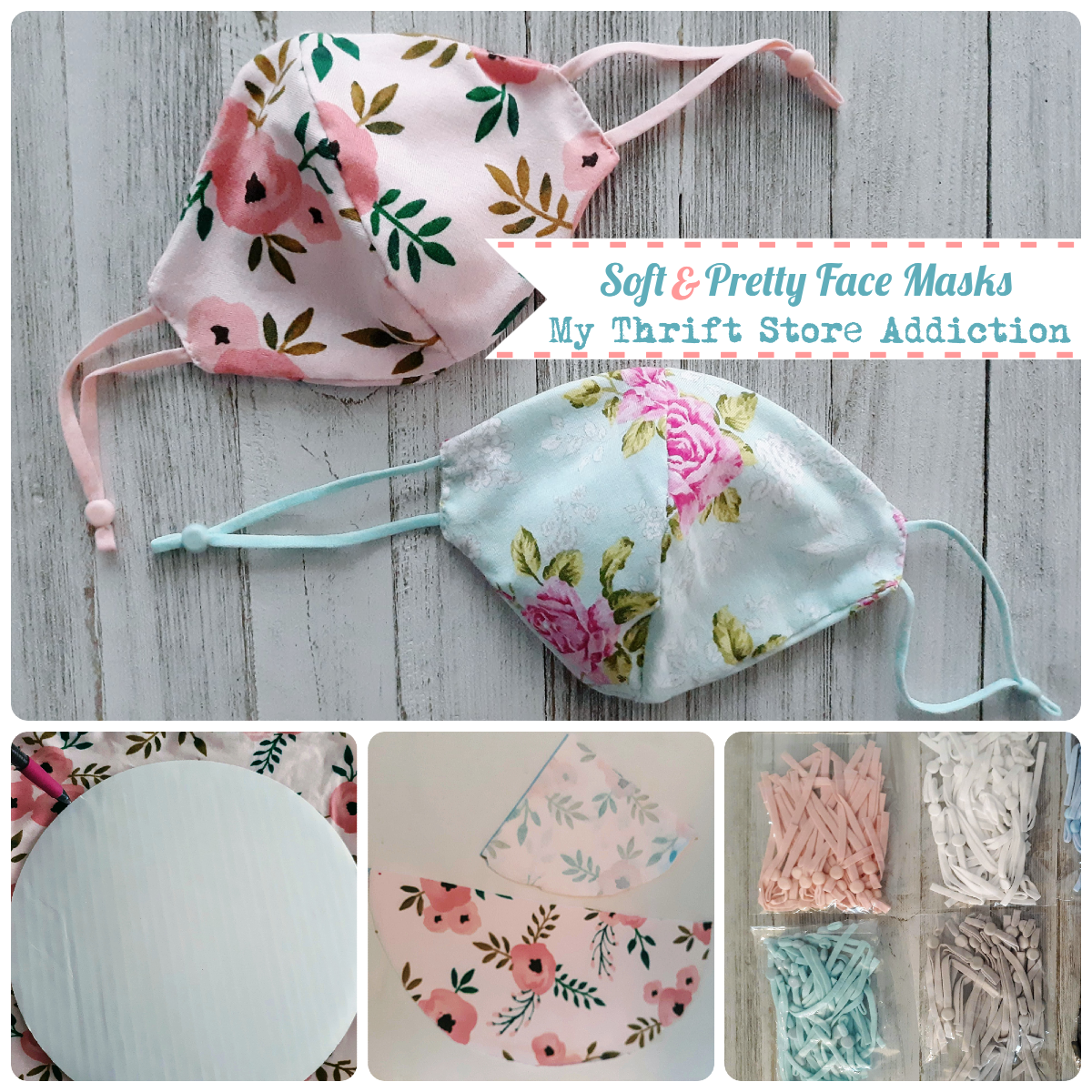DIY soft and pretty facemasks