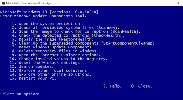 Reset Windows Update Agent