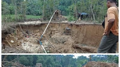 Aktivitas PETI Tanpa Izin di Batang Masumai Kab Merangin Terus Beroperasi
