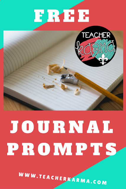 free journal writing prompts teacherkarma.com