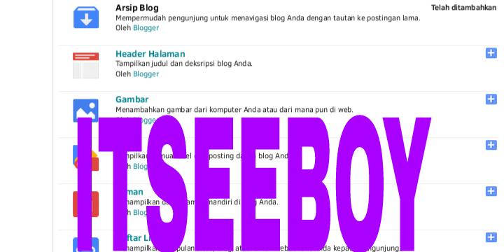 Cara Menambah Widget Total Tayang Diblog