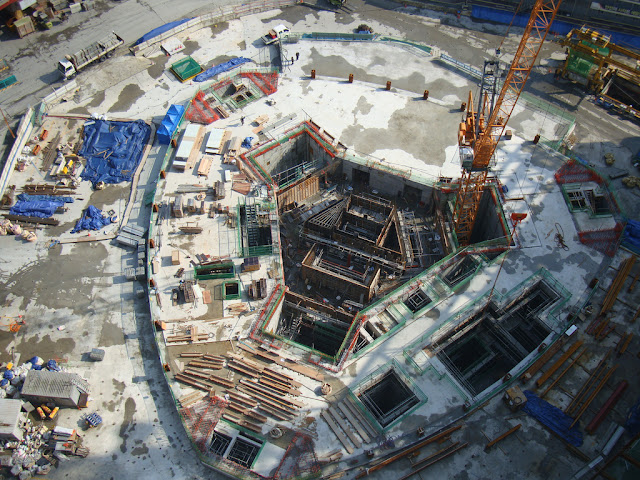 Picture of the Lotte Town Tower foundations
