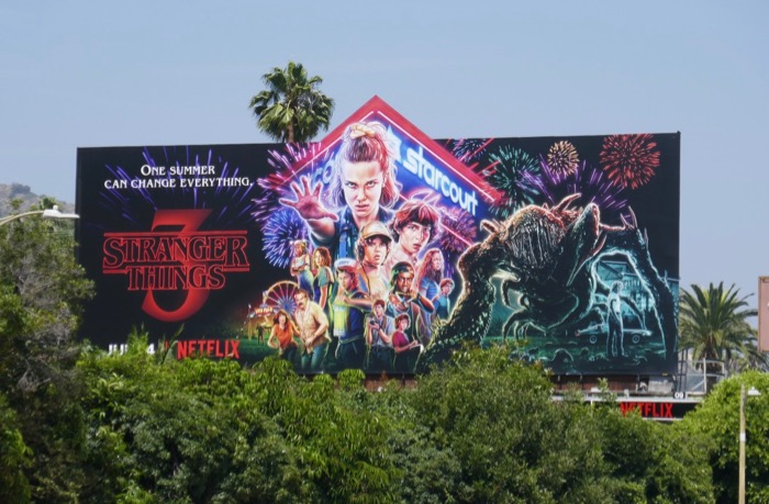 Stranger Things 3 extension billboard
