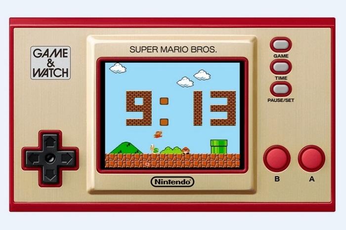 Nintendo Game & Watch Super Mario Bros Digital Clock Animations
