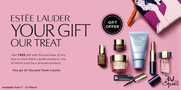 Free Gift with Purchase on Estee Lauder Products at Red Square ...