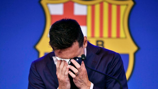 Tearful Lionel Messi confirms Barcelona exit and 'possibility' of joining PSG