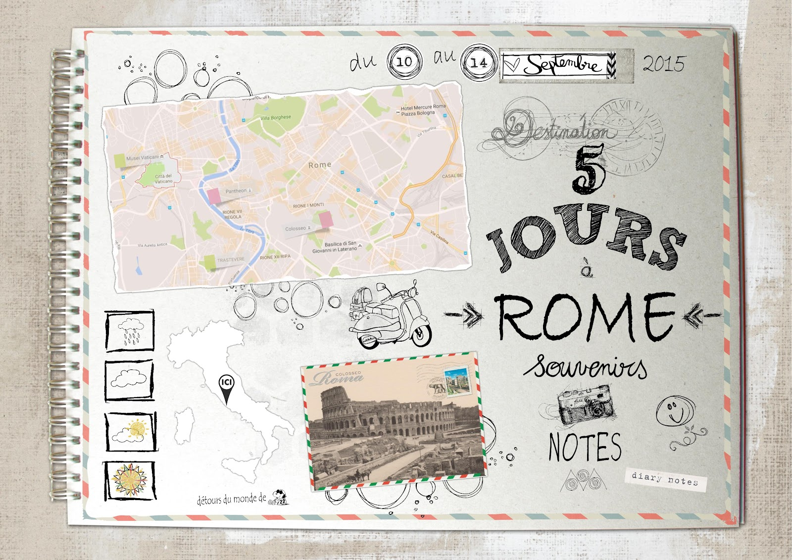 snoopyscrap 22 carnet de voyage rome. Black Bedroom Furniture Sets. Home Design Ideas