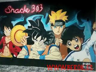 Graffitis de personajes de dibujos animados