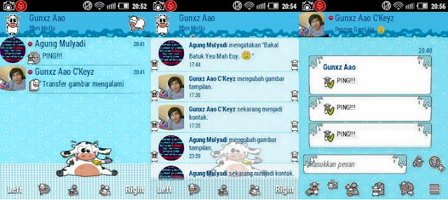 BBM Mod Mooo for Android Gingerbread Terbaru 2016