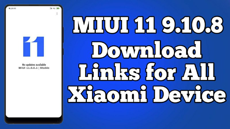 MIUI 11 9 10 8 Closed Beta For All Xiaomi Device - MIUI 11