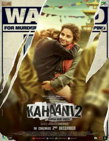 Poster Of Kahaani 2 2016 Hindi 700MB pDVDRip x264 Watch Online Free Download downloadhub.in