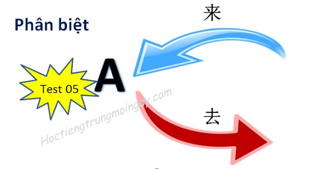 Phân biệt 来 và 去 trong tiếng Trung test 05