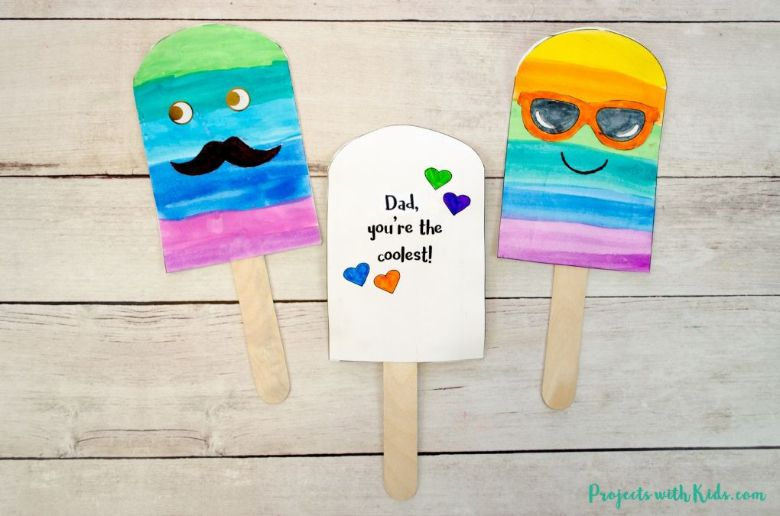Popsicle Father's Day Card - Dad you're the coolest!