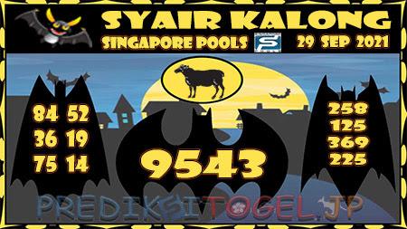 Syair Kalong Togel Singapura Rabu 29-09-2021
