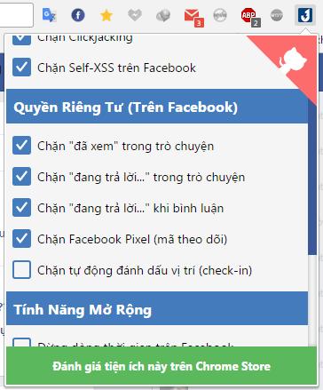 Cách ẩn thời gian hoạt động facebook. Các chức năng của tiện ích