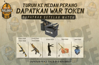 Token Ammo Box FF dan War Token Peace Emblem FF