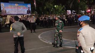 Malam Takbiran, Personel TNI-Polri Gelar Pengamanan