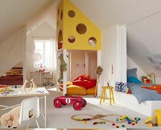 habitación divertida para niño