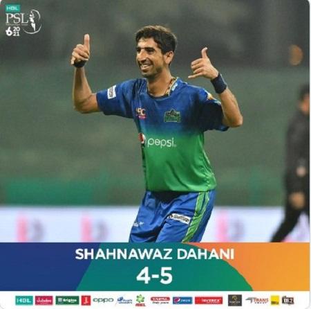 PSL 6 Highest Wicket taker Shah Nawaz Dhani  2021