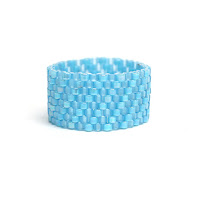 купить широкое женское кольцо голубого цвета под голубое платье украшение